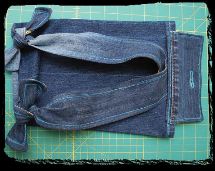 DIY Mini Jeans Backpack Tutorial