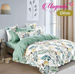 Sprei Magenta Olive