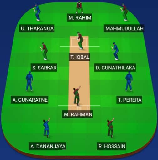 Bangladesh vs Sri Lanka Dream 11 Predictions