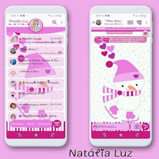 Snow Man Theme For YOWhatsApp & Fouad WhatsApp By Natalia Luz