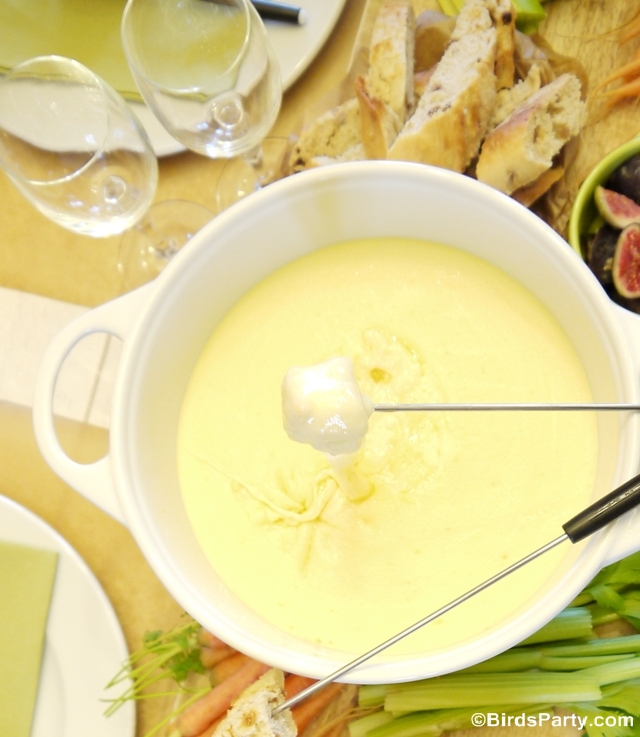 Authentic French Cheese Fondue Savoyarde Recipe - BirdsParty.com