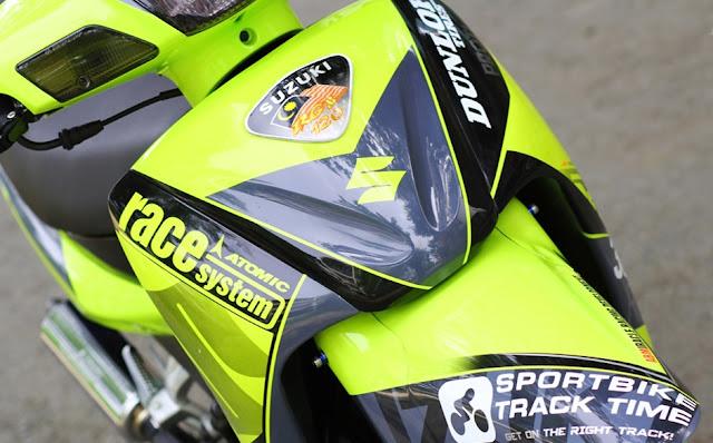 Mẫu xe máy Suzuki Xì po sơn tem đấu cực đẹp