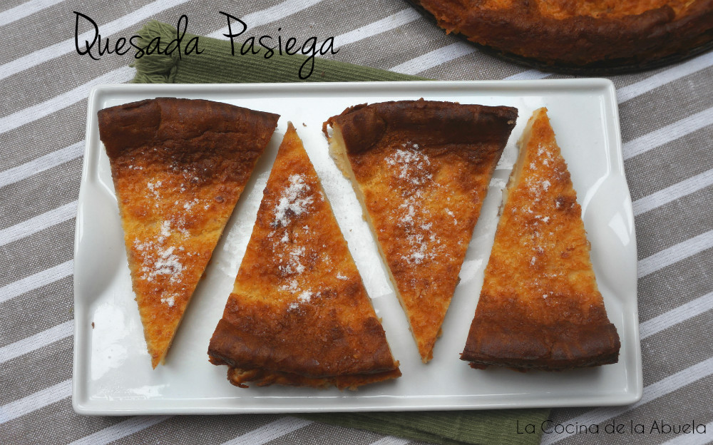 Quesada pasiega tradicional receta for Cocina casera de la abuela