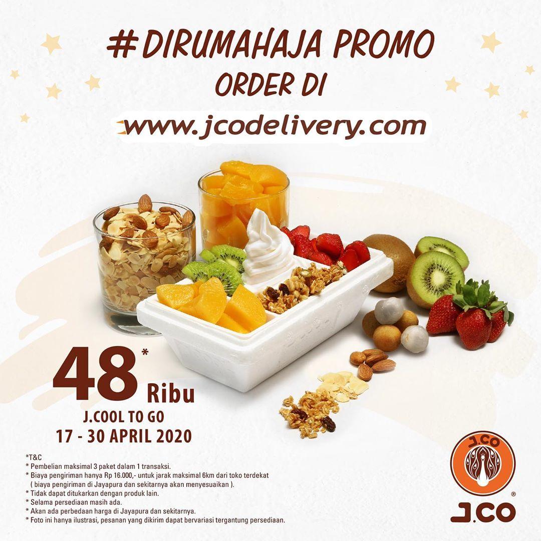 Promo Jco Paling Baru J.cool To GO Hanya Rp 48 Ribu Periode 17 - 30 April 2020
