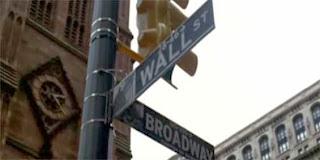 esquina da Wall Street com a Broadway