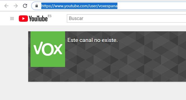 YouTube cierra el canal de Vox que contaba con 150.000 suscriptores