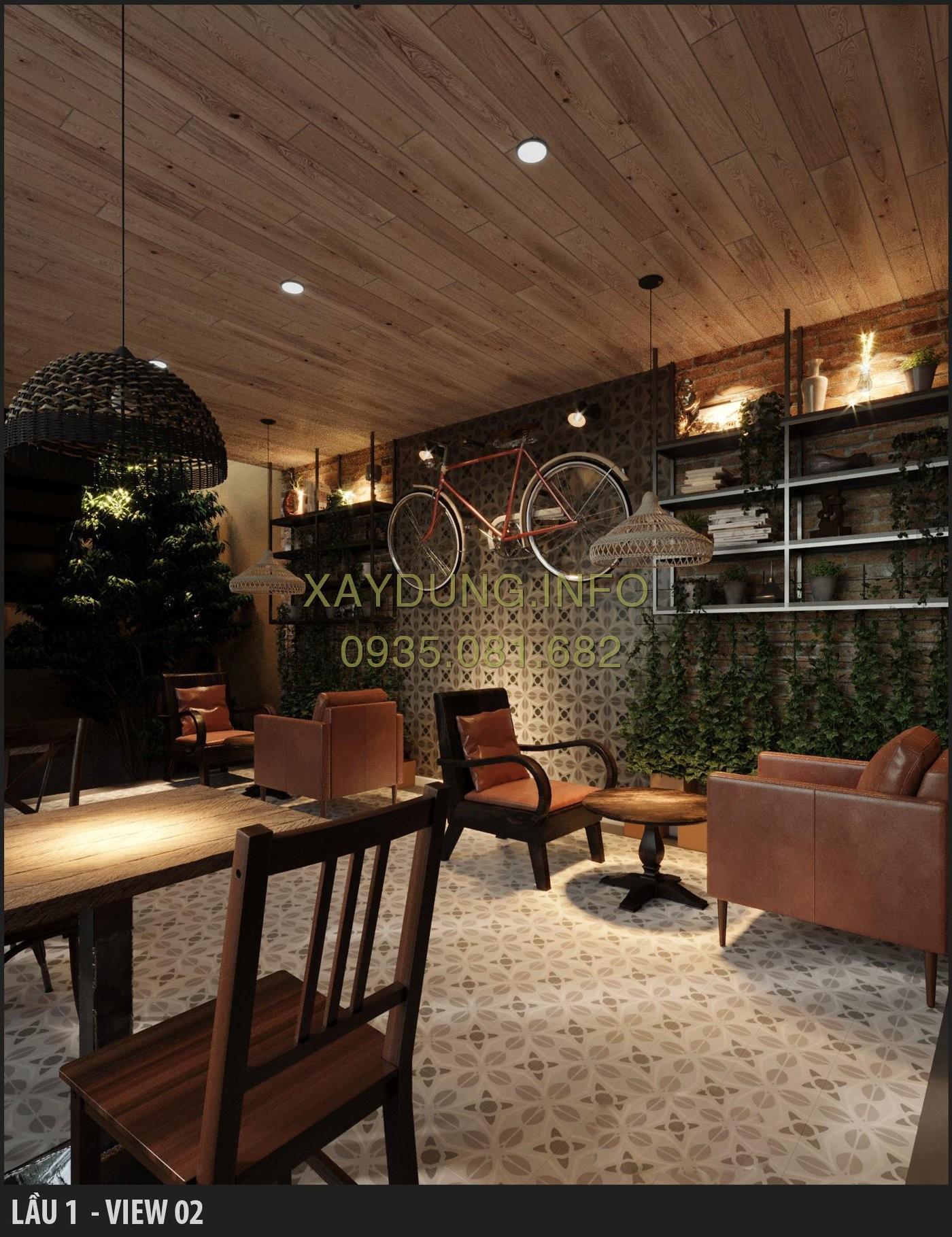 quán cà phê phong cách đơn giản