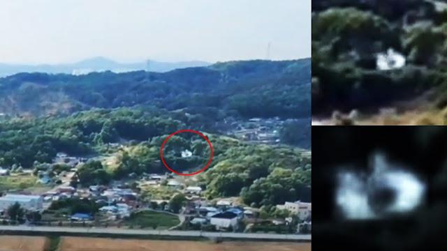 Fastwalker OVNI en forma de disco volando justo al lado de un dron, 2 de junio de 2020