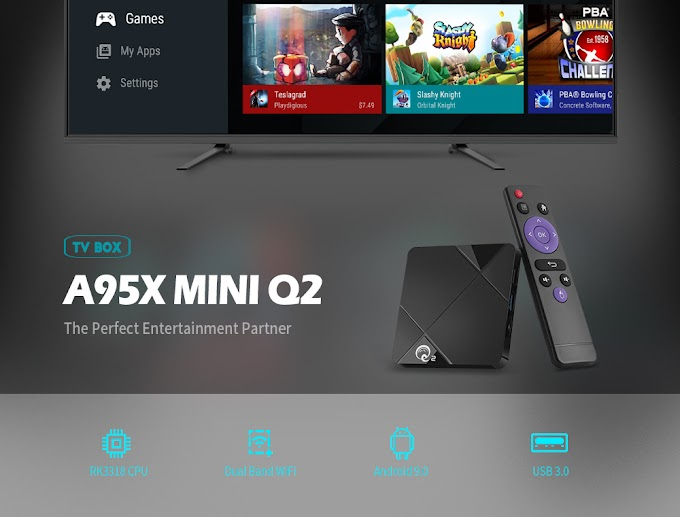discount : A95X MINI Q2 Android 9.0 Smart TV Box with RK3318