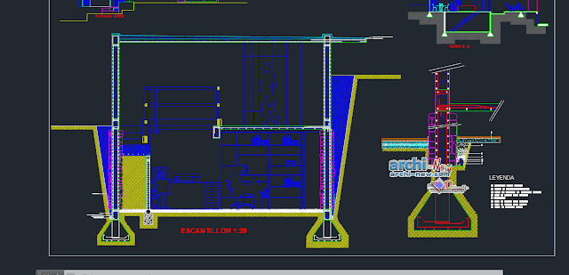 Detached house-3 bedrooms in AutoCAD