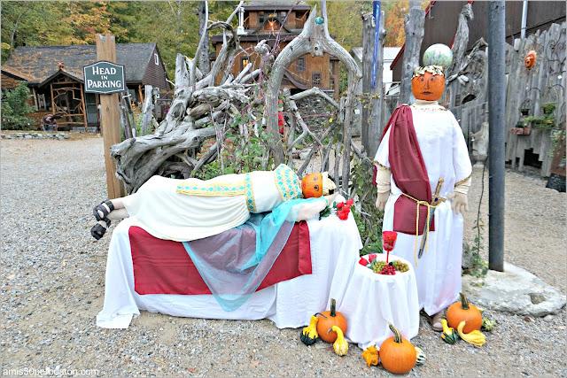 Marco Antonio y Cleopatra en el Return of the Pumpkin People de Jackson en New Hampshire