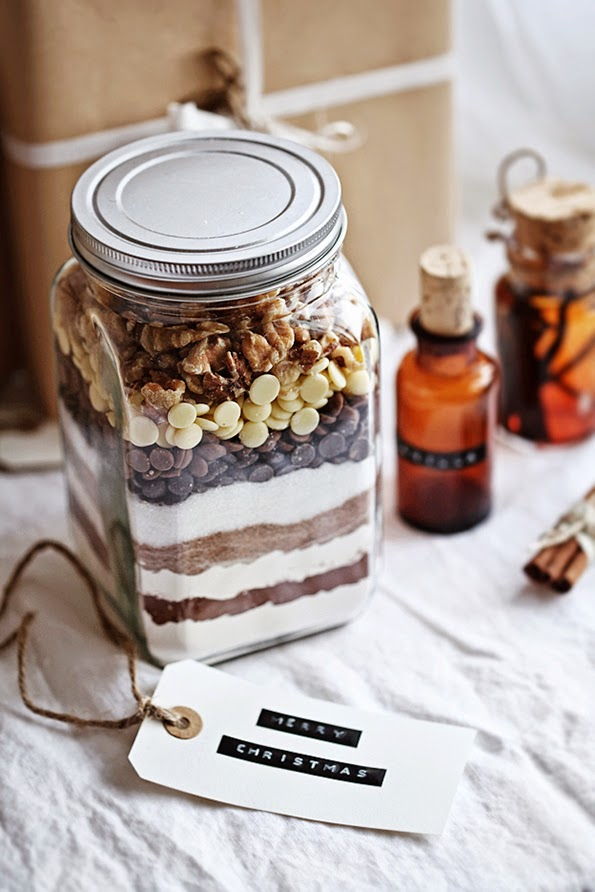 Alternative Gift Ideas for Christmas Brownies in a Jar Recipe Ingredients Mason Jar Gifts in a Jar Holiday Christmas Dessert Merry Christmas