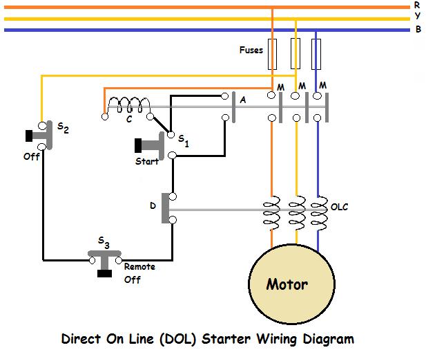 Direct On Line (DOL) Starter Wiring Diagram ~ NEW TECH