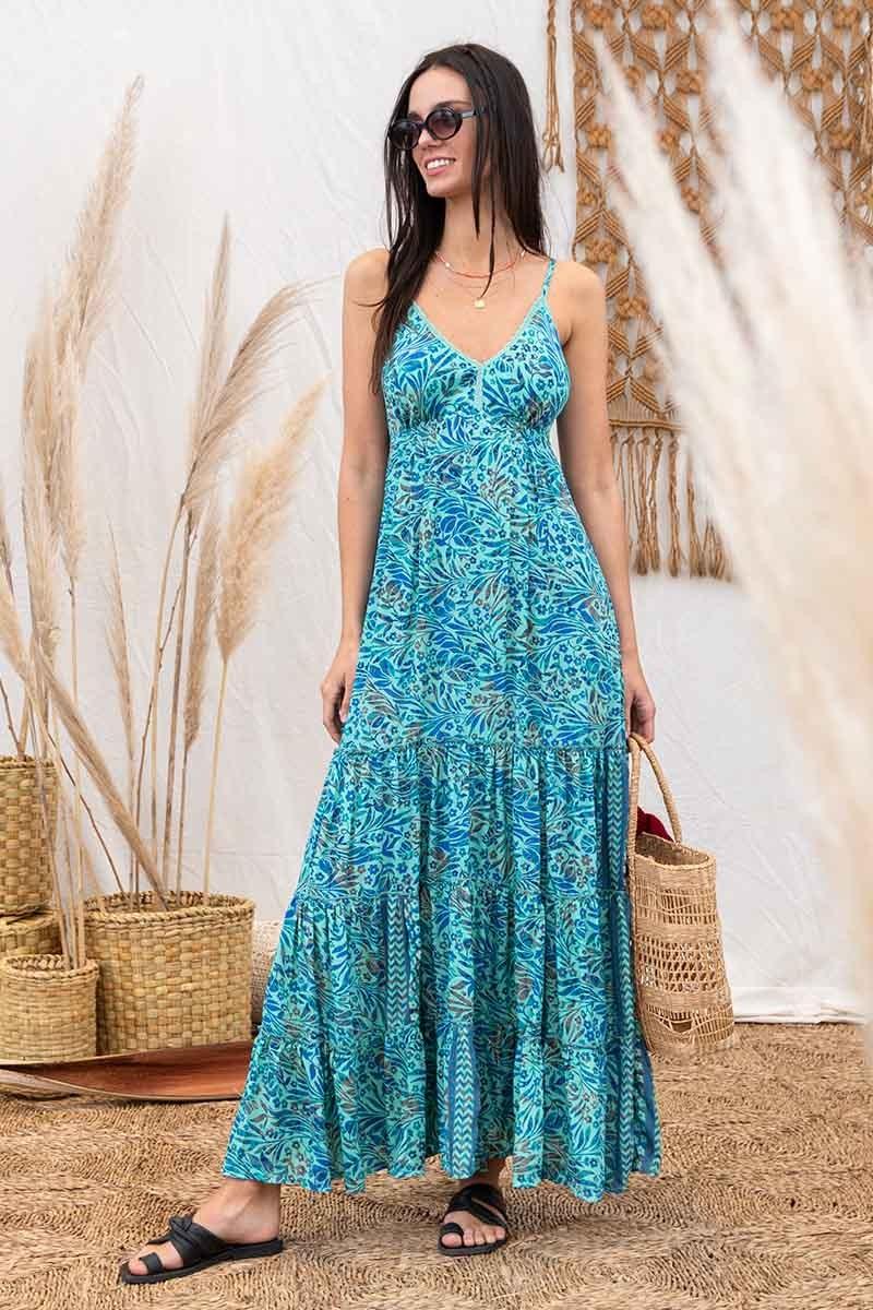 VESTIDOS LARGOS 2022:  Imperdibles! los vestidos más hermosos del verano 2022 de Santa Bohemia
