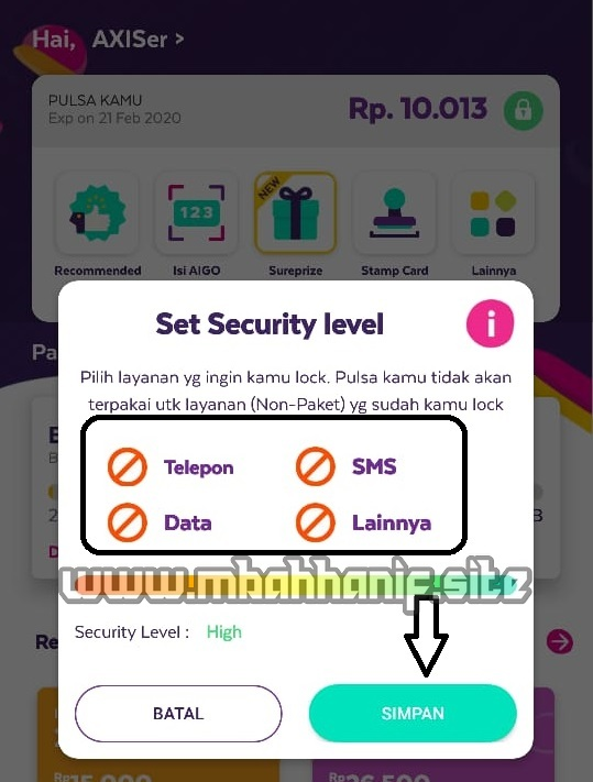 axis set security level