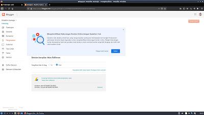 Screenshot tampilan Adsense di Blogger yang nonaktif