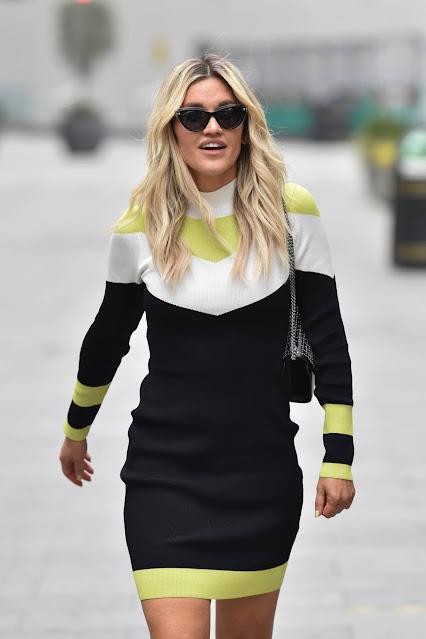 Ashley Roberts – Wears an outfit by Karen Millen in London