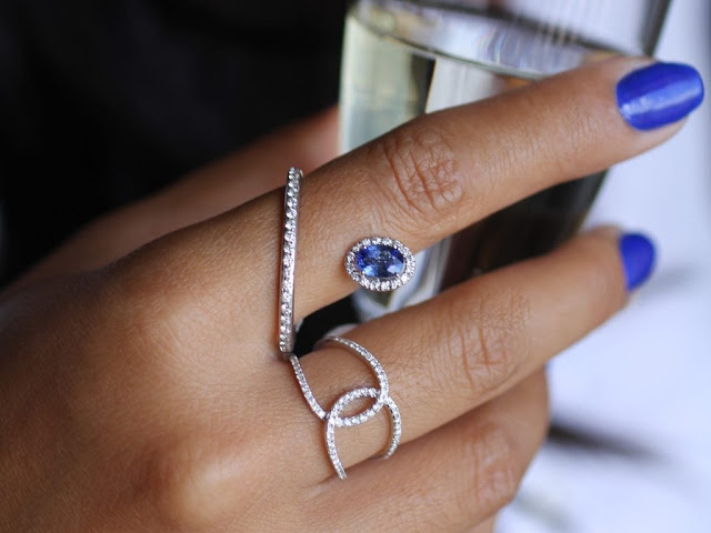 Sapphire ring for women