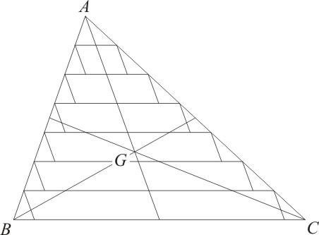 Métodos infinitesimais de Stevin e o baricentro de um triângulo