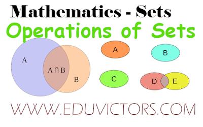 Class 11 - Maths - Chapter: Sets - Operations Of Sets (#class11Maths)(#eduvictors)