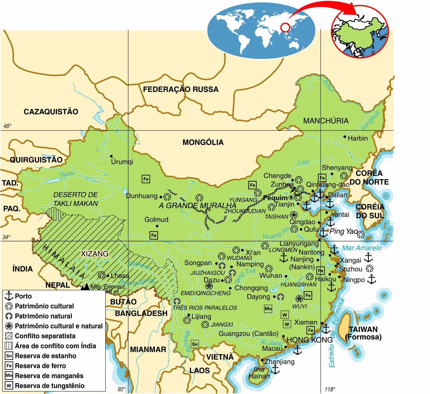 China - Aspectos Geográficos e Sociais da China