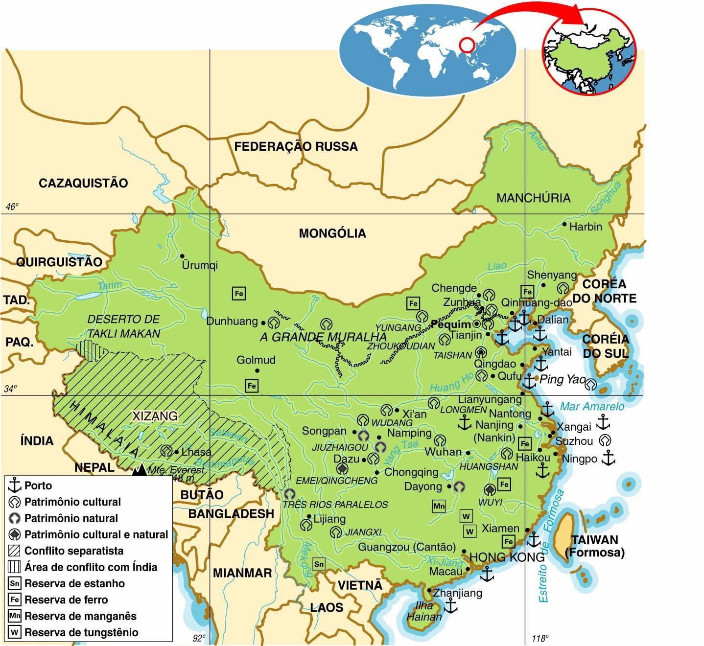 China - Aspectos Geográficos e Sociais da China