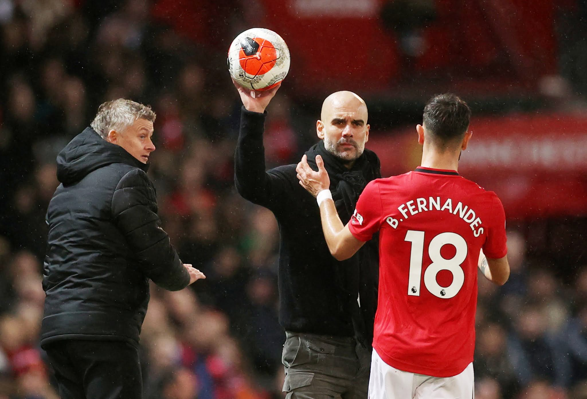 Pep Guardiola will seek to claim in his first Premier League victory over United in four attempts this Sunday