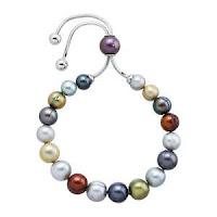 Honora Freshwater Multi Pearl Bolo Bracelet with Slider in Stainless Steel