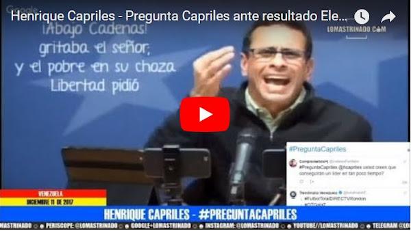 Henrique Capriles muy nervioso por posible candidatura de Lorenzo Mendoza