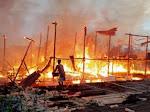 Kebakaran Dahsyat di Lamurukung, 6 Rumah Dilalap Si Jago Merah