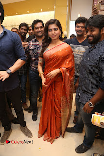 Actress Samantha Pictures in Saree at South India Shoping Mall Launch 0236