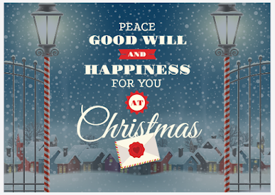 Biglietto di auguri: cartolina natalizia