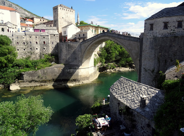 Mostar Old Bridge in the Old Town