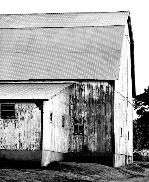 Big Barn Digital Photo BW