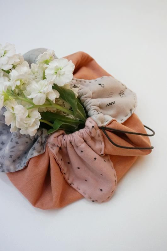 A petal bag (also known as an origami bag) is the easiest and quickest gift bag you'll ever make