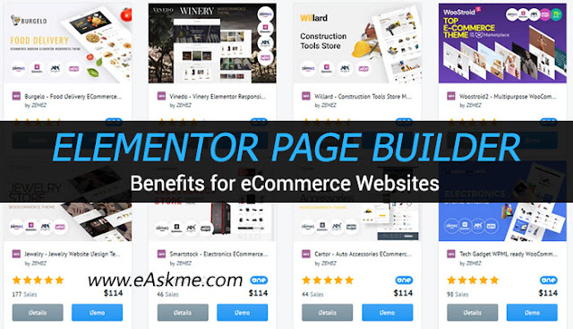 Benefits Of Elementor Page Builder For eCommerce Websites: eAskme