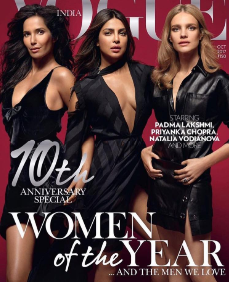 Priyanka Chopra Sizzles on Vogue October 2017 Cover