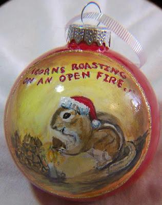 Chipmunk Christmas Ornament