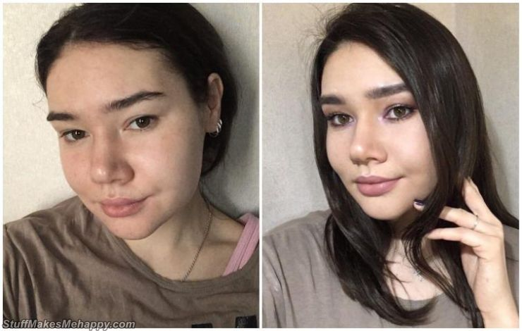 Girls Before and After Makeup, Showing How Much They Changed