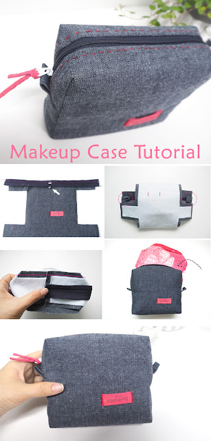 Cosmetic Bag from Jeans Tutorial