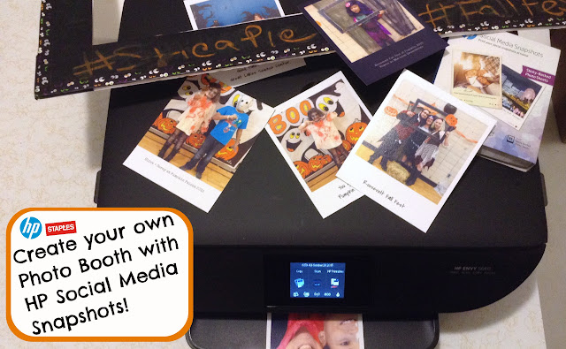 Halloween Photo Booth Fun with @HP Social Media Snapshots only at @Staples #stickapic