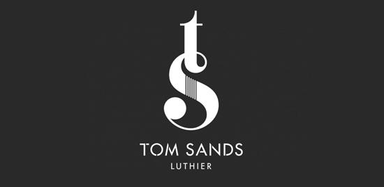 La elegante identidad para el fabricante de guitarras Tom Sands