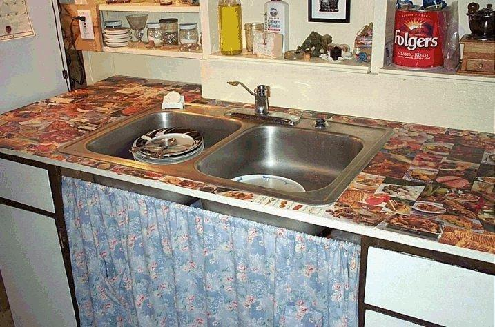 Decoupage Your Ugly Kitchen Counters Don T Worry Pics 2 3 Aren Mine Lol