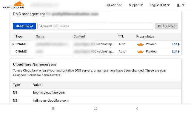 Configure DNS records