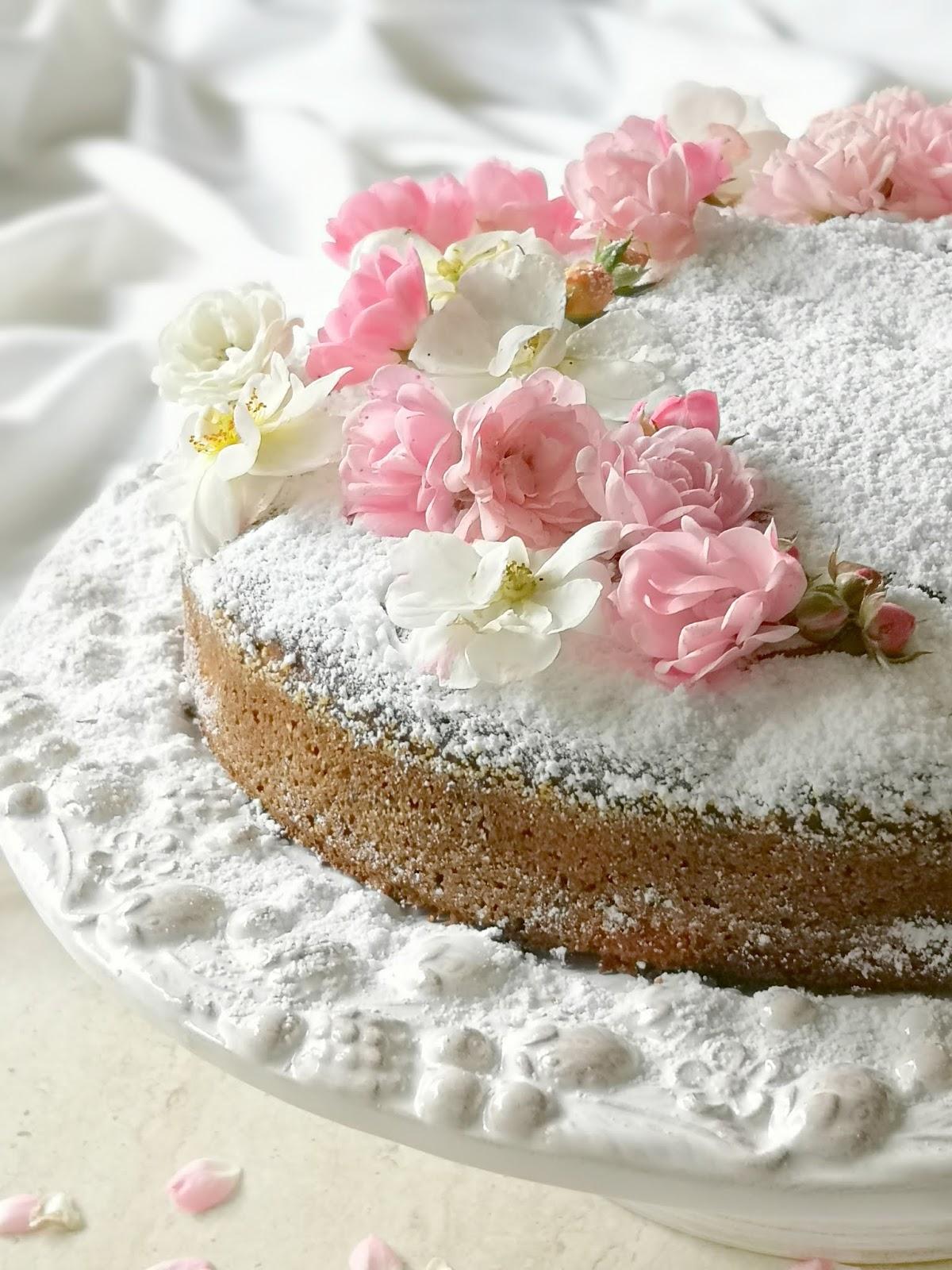 torta alla rosa e mele