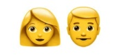 Woman/Man  emoji Hindi Meaning