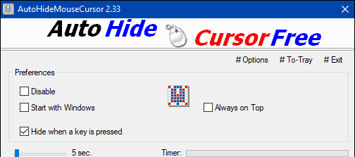 Ways to Keep Mouse Cursor out of Sight 10 When Idle in Windows