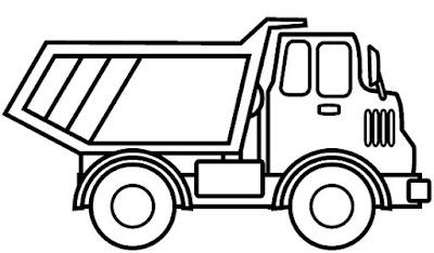 Gambar truk yang mudah digambar