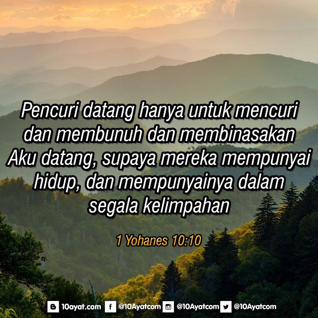 1 Yohanes 10:10