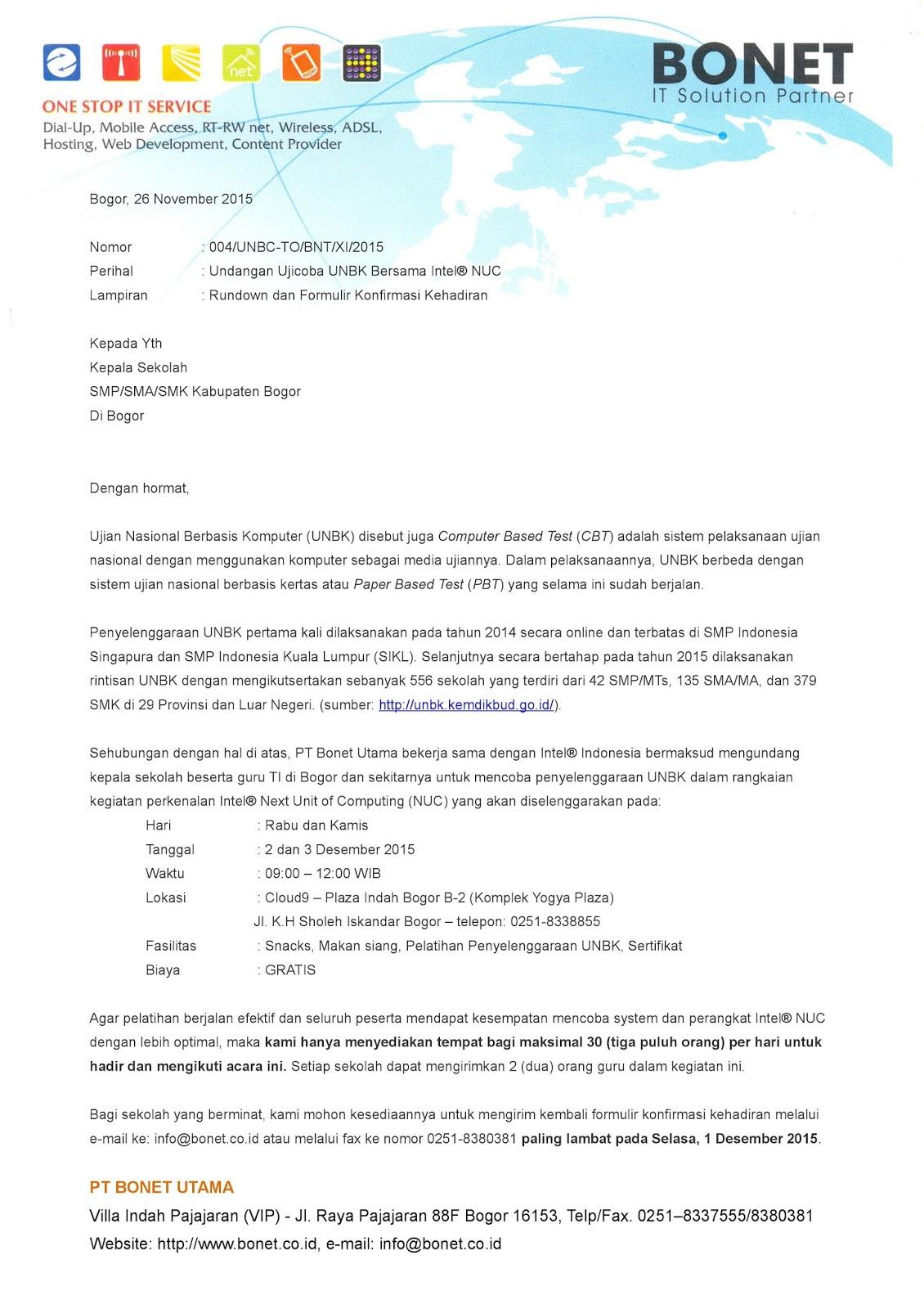 Contoh Surat Undangan Ujicoba Unbk Brankas Arsip